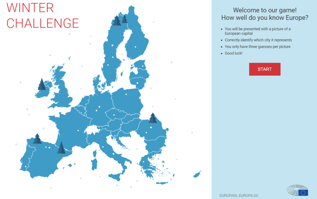 Capture from the European Parliament website