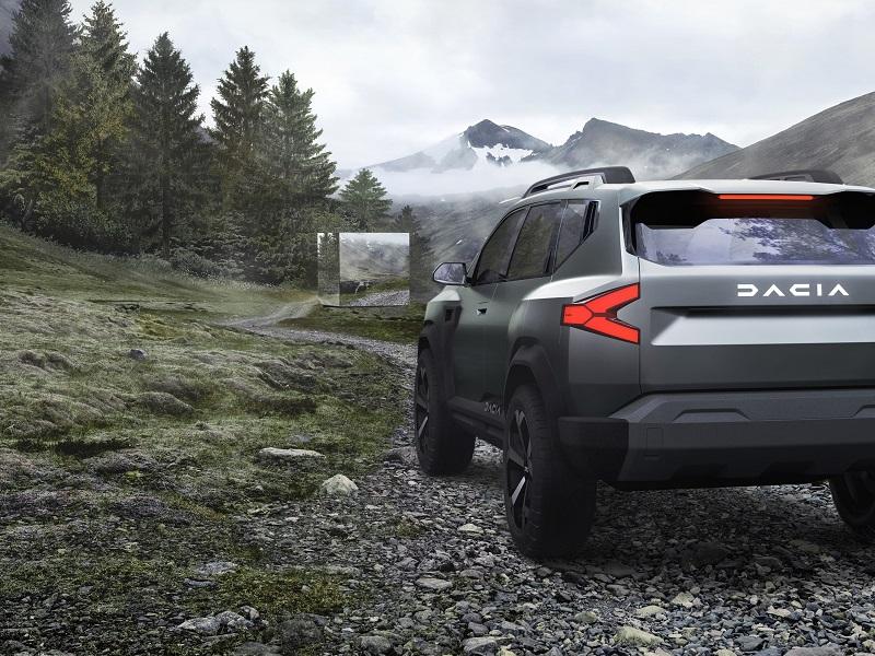 Dacia Bigster concept rear view