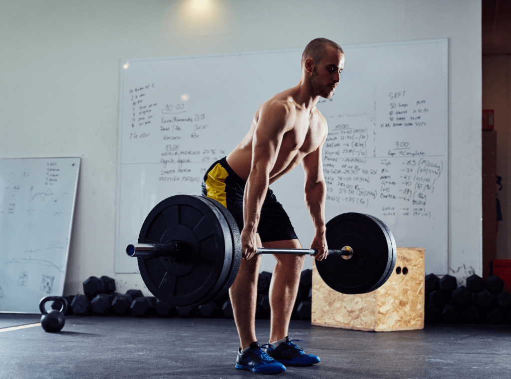 Athlete performing the Romanian Deadlift